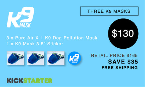 K9 Mask Kickstarter Pledge 130 $
