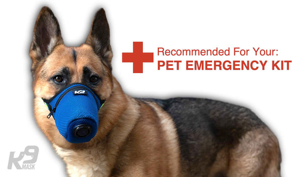 Kit de emergencia para mascotas K9 Mask® Bug Out Bag