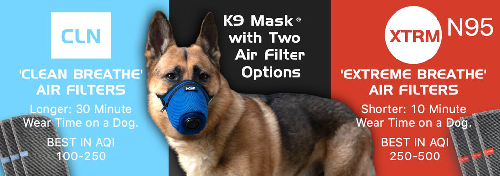 مرشحات K9 Mask® Clean و N95 Extreme Breathe Air