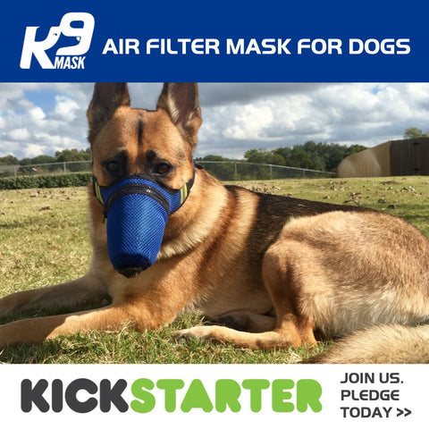 K9 Mask Kickstarter Campaign - Dog Pollution Air Mask
