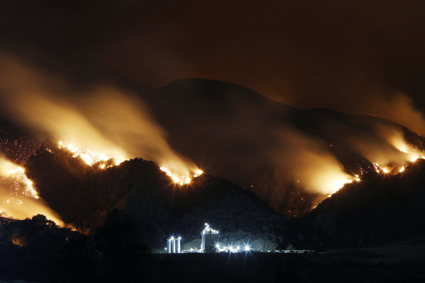 Mga Wildfires at Wind ng California