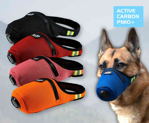 K9 Mask® Colors Clean Breathe Masque filtrant de bouche pour chien contre la pollution de l'air