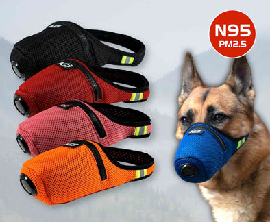 Filtre à air Custom Color K9 Mask® pour chiens Recharges de filtres Extreme Breathe