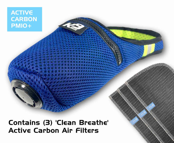 K9 Mask® Clean Breathe Dog Air Filter Mask Active Carbon Filters