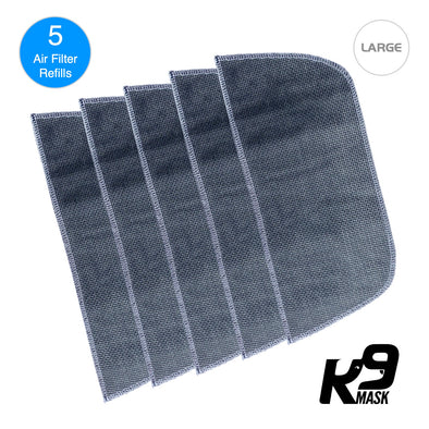 Large K9 Mask Air Filter Five Layer N95 PM2.5