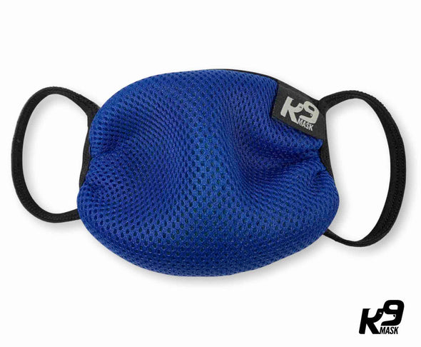 K9 Mask® for Humans clean breathe air face mask blue
