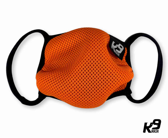 K9 Mask® for Humans clean breathe air face mask orange