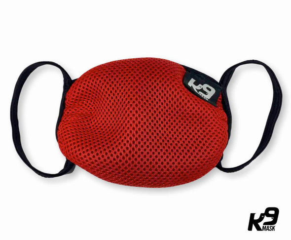K9 Mask® for Humans clean breathe air face mask red