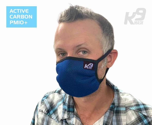K9 Mask® for Humans man clean breathe air filter