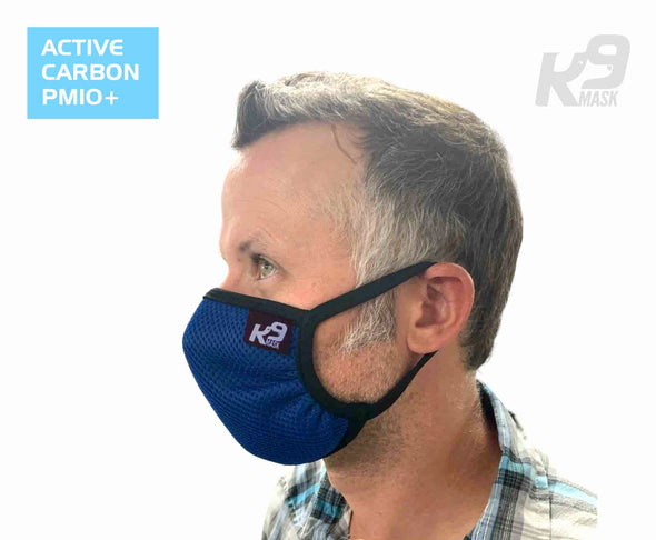 K9 Mask® for Humans man clean breathe air filters