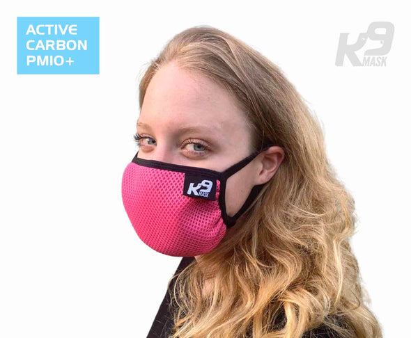 K9 Mask® for Humans woman clean breathe air face filter