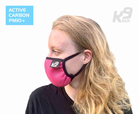 K9 Mask® for Humans woman clean breathe air filter