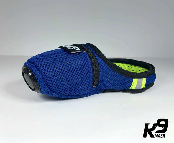 K9 Mask® for Dogs with 'Clean Breathe' Active Carbon Air Filters - Blue