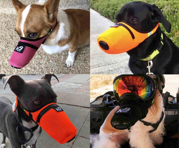 K9 Mask® Small Medium Large Extra Large size air filter mask for dogs