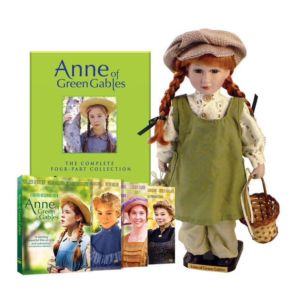 "Anne of Green Gables: 16"" Movie Doll with Four Film DVD Collection"