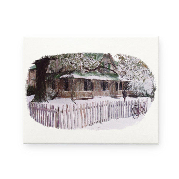 Anne of Green Gables- Winter Pencil Sketch Canvas Print