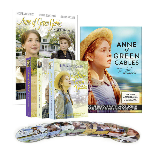 Anne of Green Gables Restored Four Part DVD and Book Set