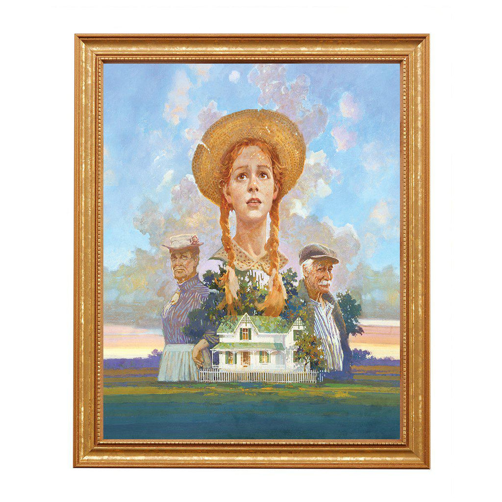 Anne, Marilla & Matthew at Green Gables, By James Hill-Non framed