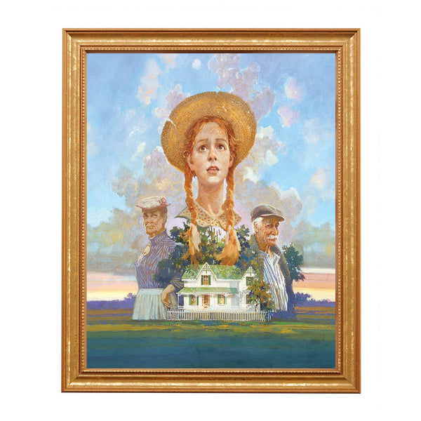 Anne, Marilla & Matthew at Green Gables, By James Hill-Unframed
