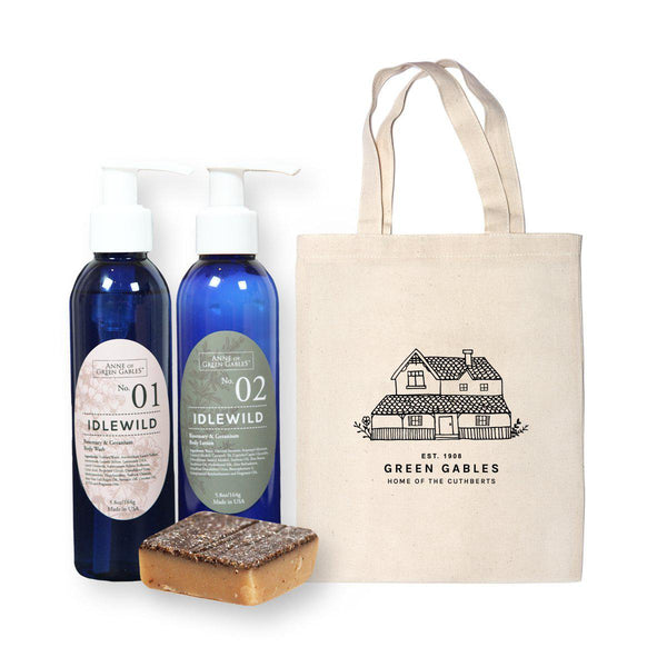 Green Gables Tote and Apothecary Set