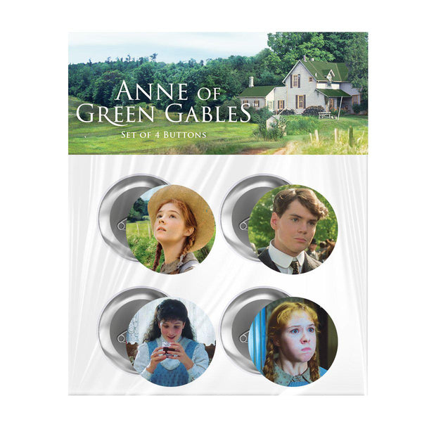 Anne of Green Gables Movie Pinback Buttons (4 pack)