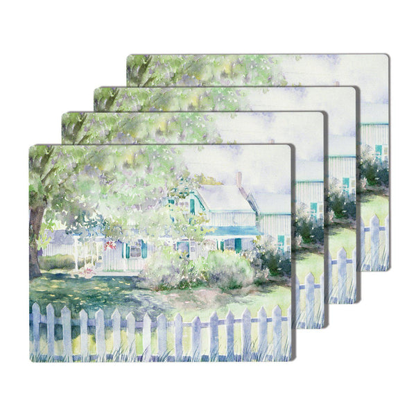 Green Gables Cork-Backed Placemats Set of Four