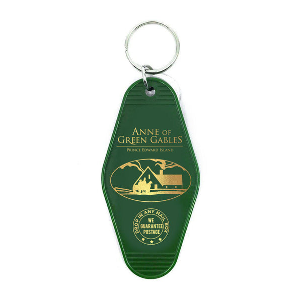 Green Gables Retro Hotel Key Chain