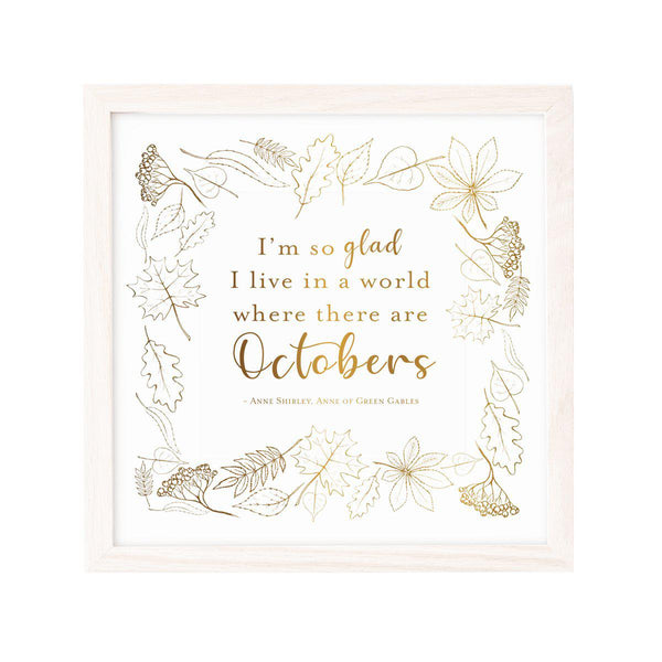 October Quote Print