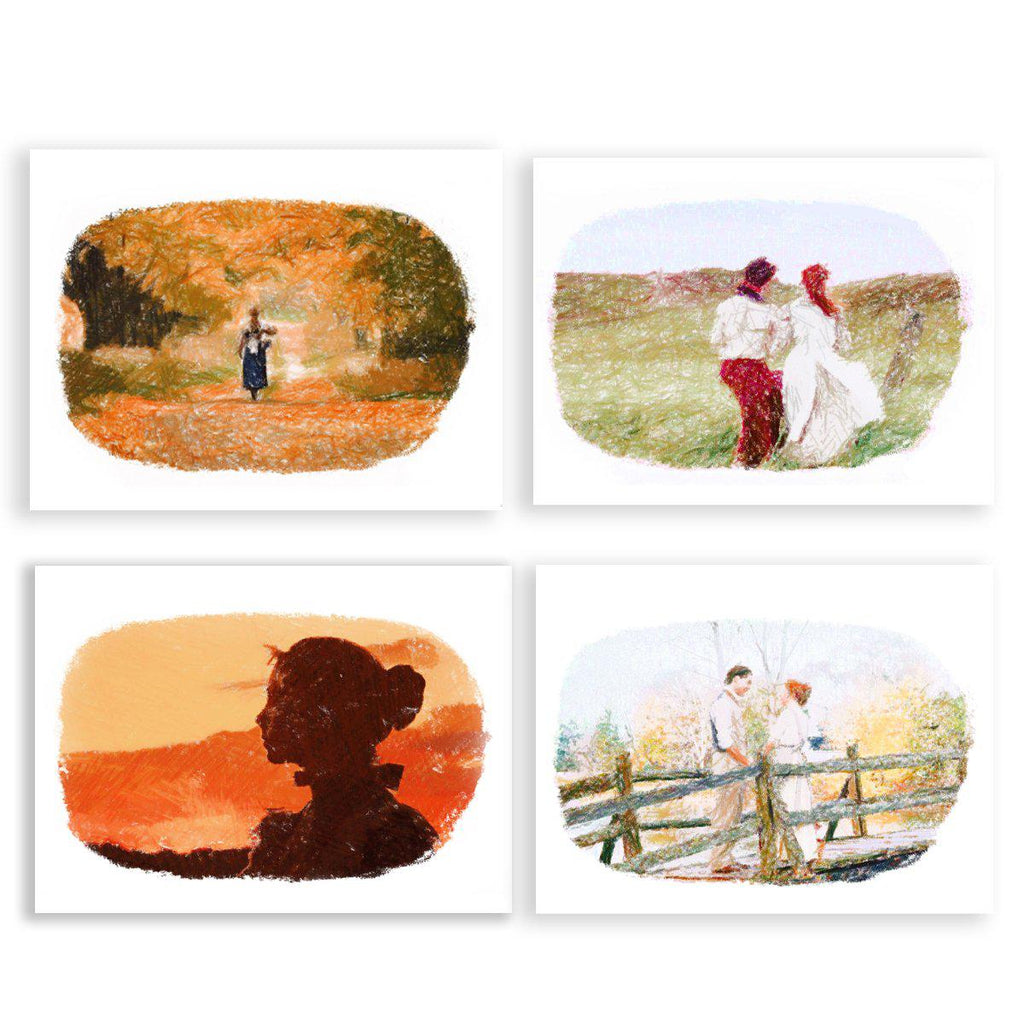Anne of Green Gables Pencil Sketch Greeting Cards