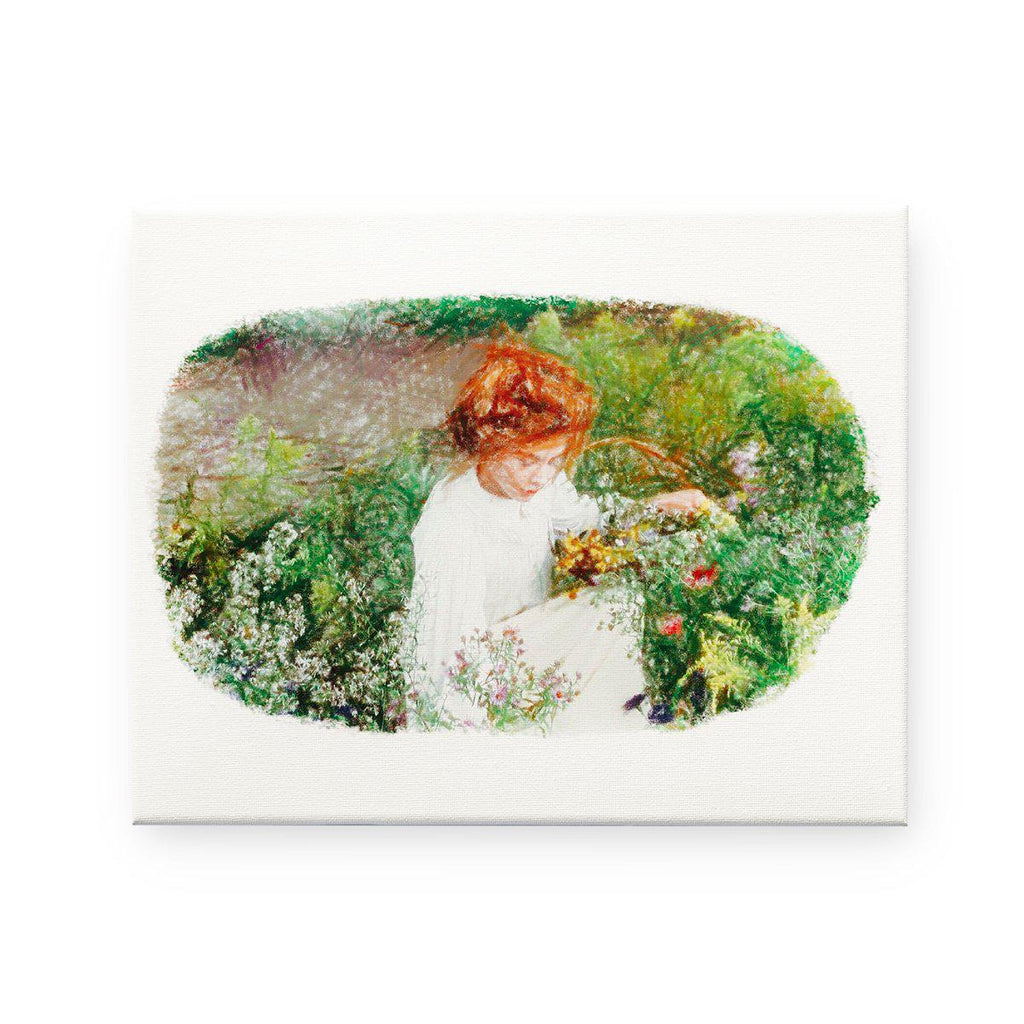 Anne of Green Gables- Anne of Avonlea Pencil Sketch Canvas Print