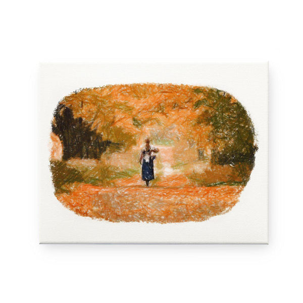 Anne of Green Gables- Autumn Pencil Sketch Canvas Print