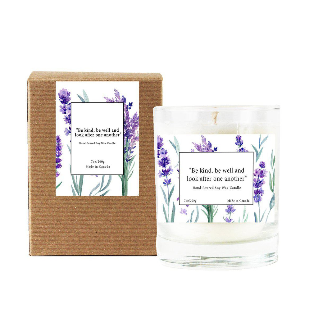 """Be Kind, Be Well, Look After One Another"" In The Spirit of Anne Lavender-Field Candle"
