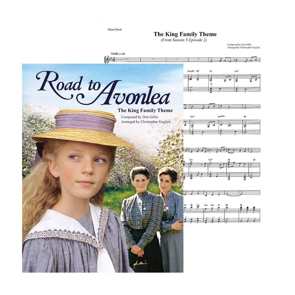 Road to Avonlea The King Family Theme Sheet Music