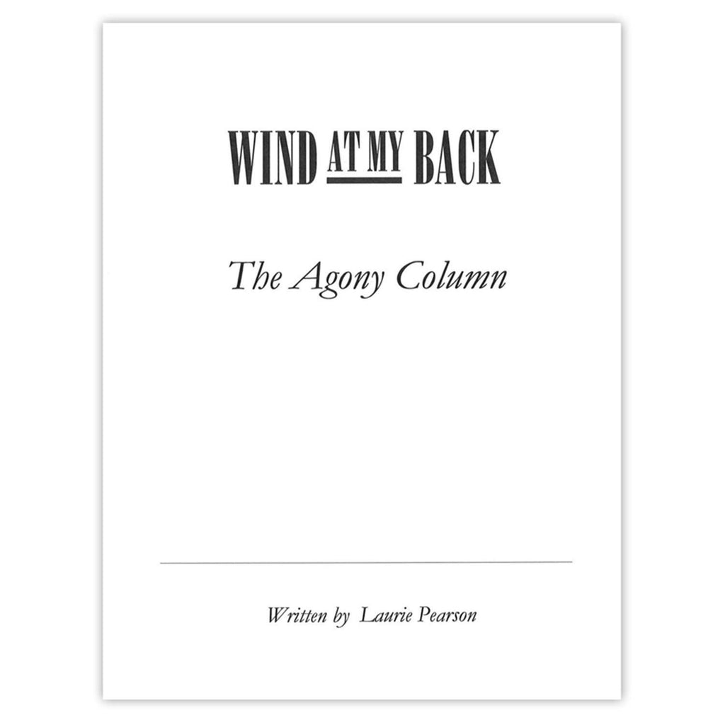 Wind at My Back: The Agony Column Autographed Screenplay