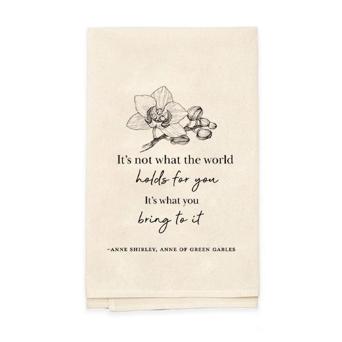 What The World Holds Tea Towel