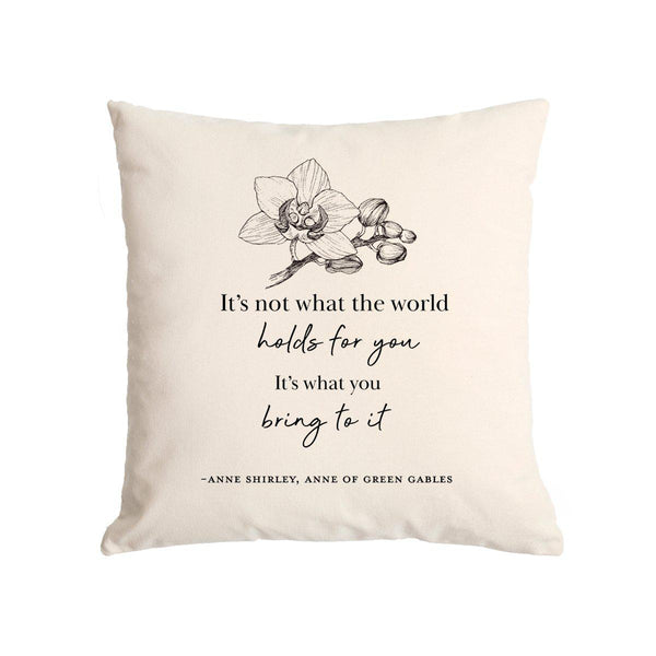What The World Holds Canvas Pillow Case