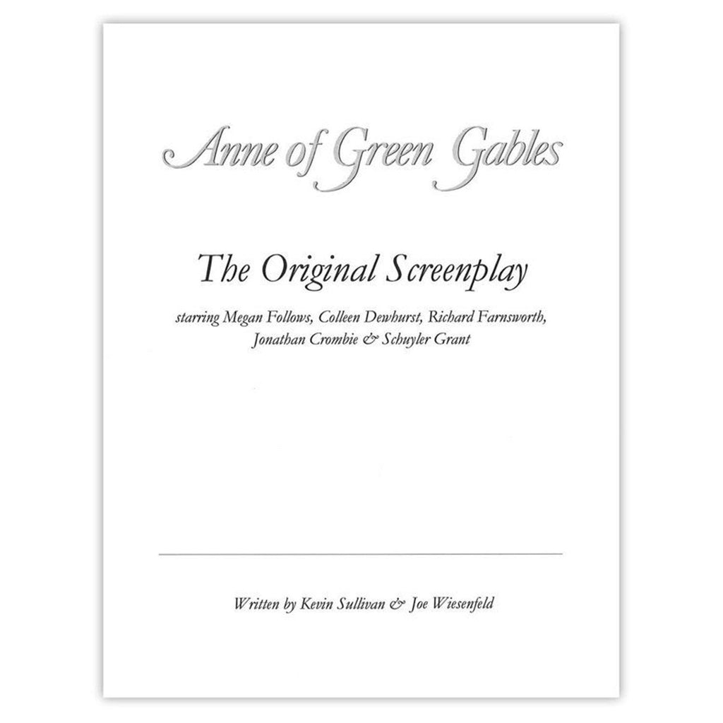 Anne of Green Gables Autographed Screenplay