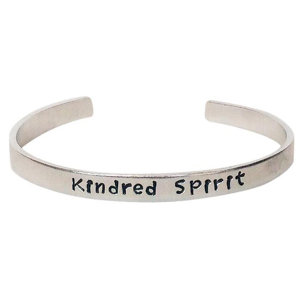 Kindred Spirit Hand Stamped Metal Cuff