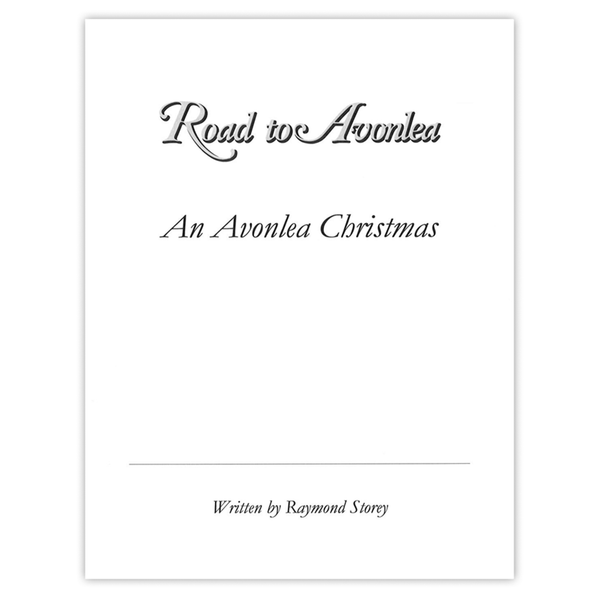 An Avonlea Christmas Autographed Screenplay