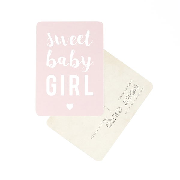 Carte Sweet Baby Girl Cinq Mai