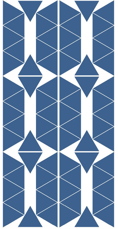 Stickers Muraux Triangles Bleu Gris