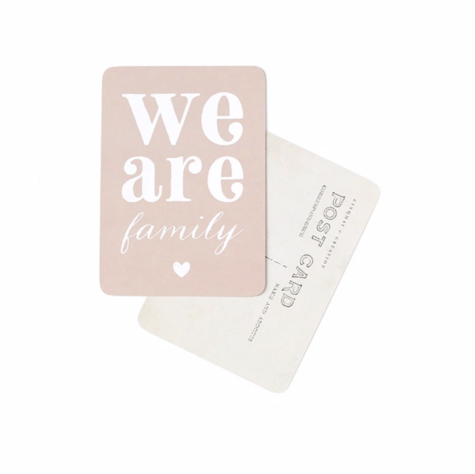 Carte We are Family Rose