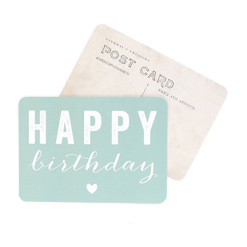 Carte Happy birthday Mint Cinq Mai
