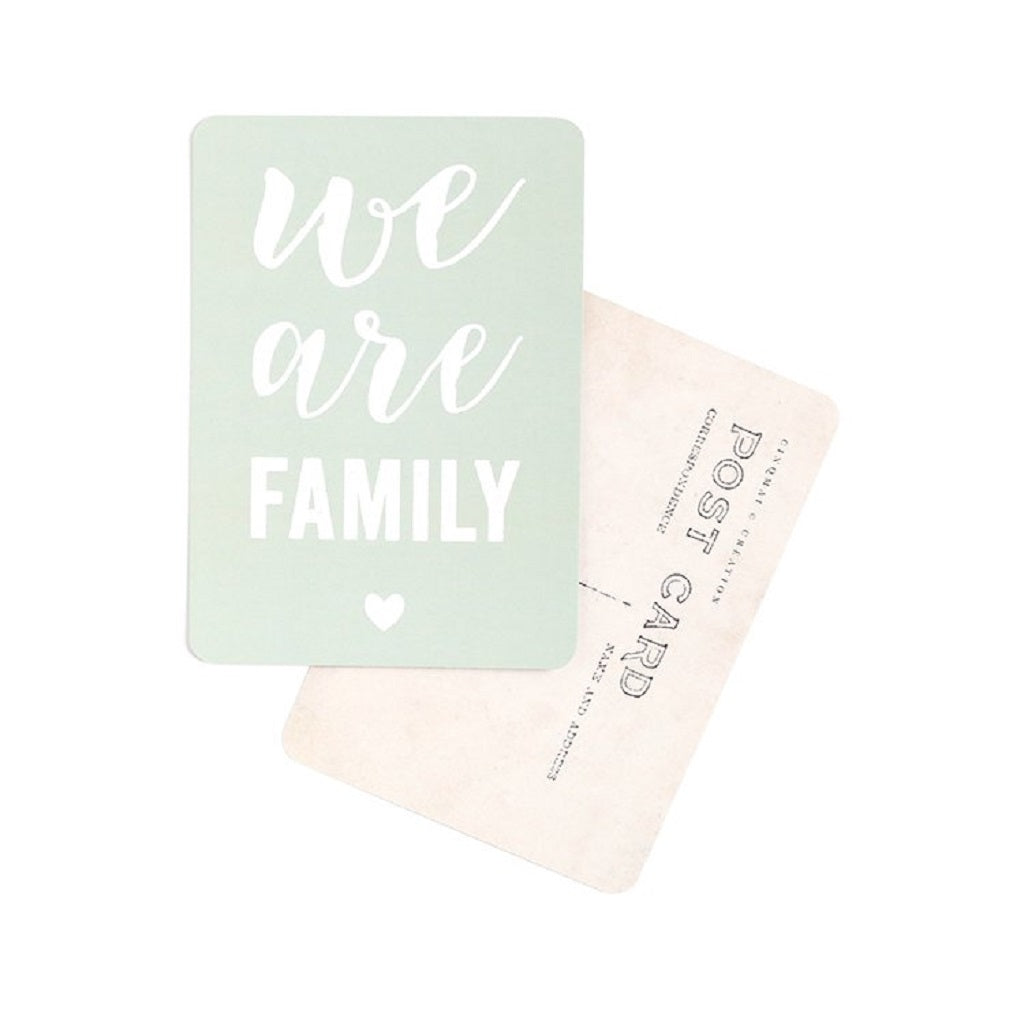 Carte We are Family Mint