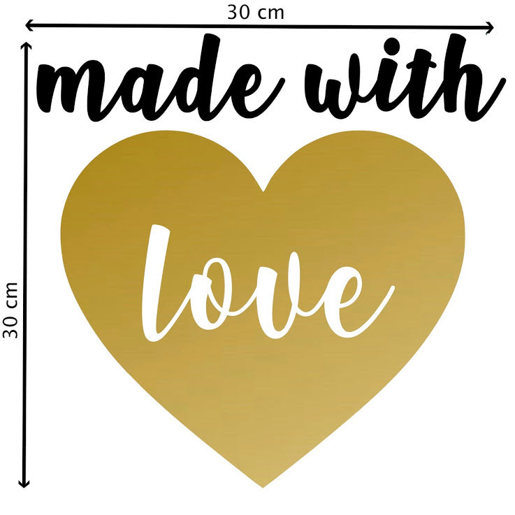 Maxi Sticker Made with love or Pöm le Bonhomme