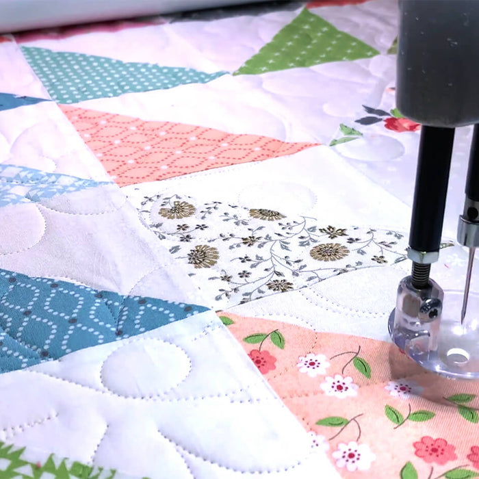In-store longarm quilting service