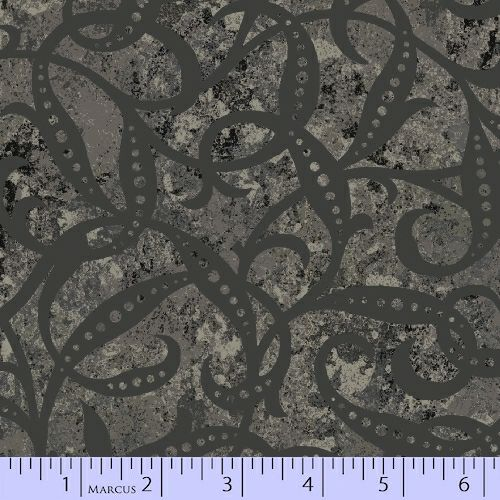 Marcus Fabrics Mixed Expressions Dark Gray