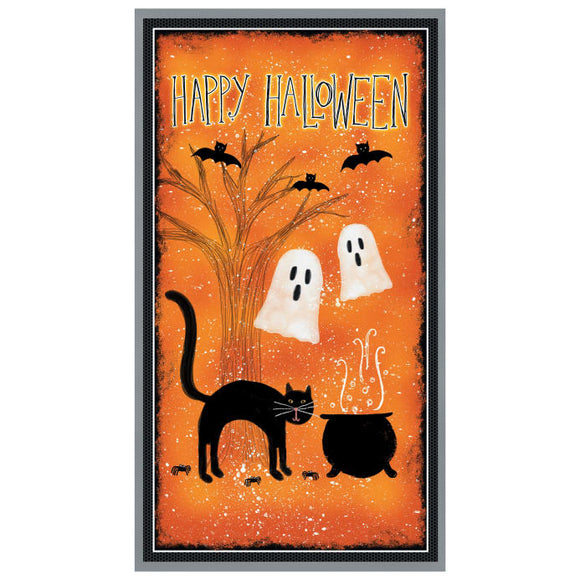 Wilmington Prints Spooky Vibes Orange 24