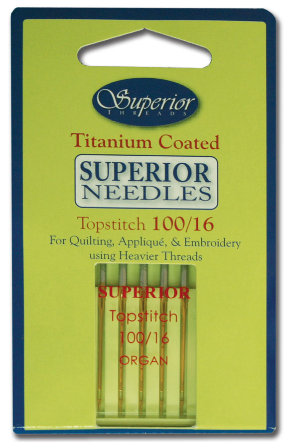 #100/16 Topstitch Titanium-coated Needles