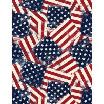 Wilmington Prints American Valor Multi